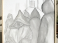 Hommes Marocains, Crayon/toile 82cm/98cm 2012 15000DH