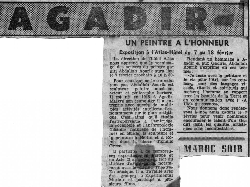 2-Article Maroc 1972