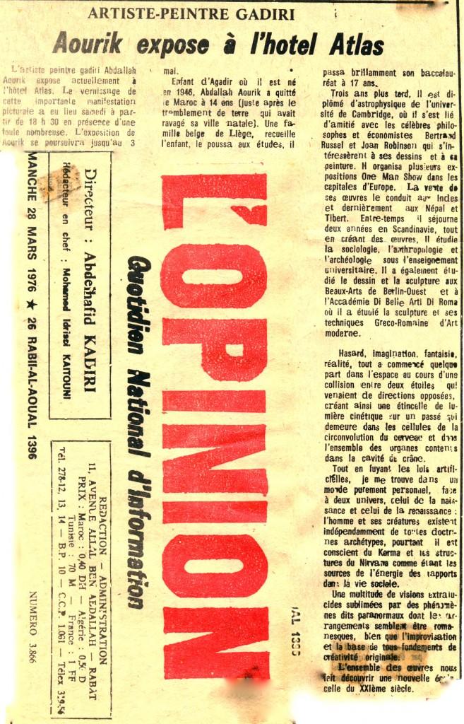 3-article Agadir, Maroc 28-3-1976