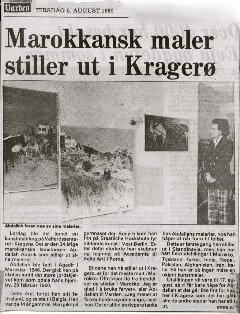 8-article Kragro, Norvège 5 aout 198O
